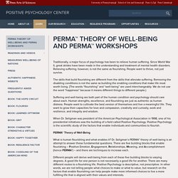 PERMA™ Theory of Well-Being and PERMA™ Workshops