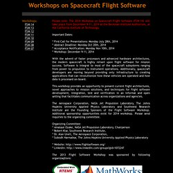 Workshops on Spacecraft Flight Software