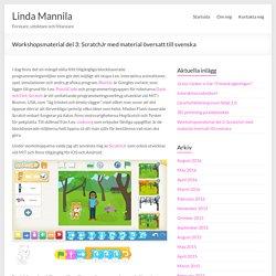 Workshopsmaterial del 3: ScratchJr med material översatt till svenska