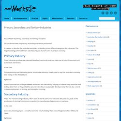 ACTU Worksite for Schools » Primary, Secondary, and Tertiary Industries