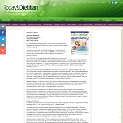 Worksite Wellness - Today's Dietitian Magazine