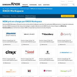 KNOX Workspace Supported MDMs