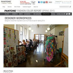 All Workspaces: Spring 2015 Pantone Fashion Color Report - from Pantone.com