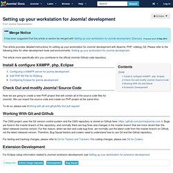 Setting up your workstation for Joomla! development