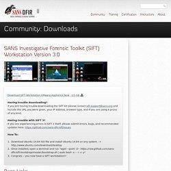 SIFT Kit/Workstation: Investigative Forensic Toolkit Download