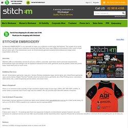 Workwear Embroidery Sydney Australia - Stitchem