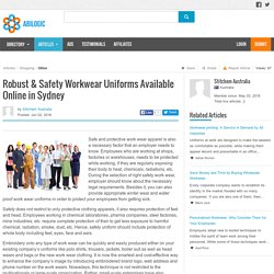Robust & Safety Workwear Uniforms Available Online in Sydney
