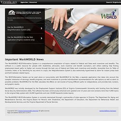 WorkWORLD™ Software Homepage