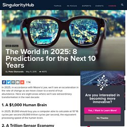 The World in 2025: 8 Predictions for the Next 10 Years - Singularity HUB