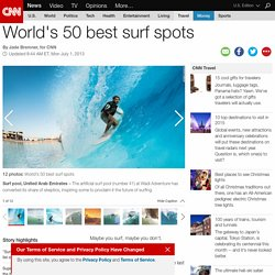 World's 50 best surf spots