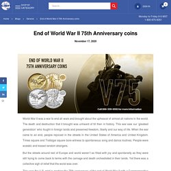 End of World War II 75th Anniversary coins