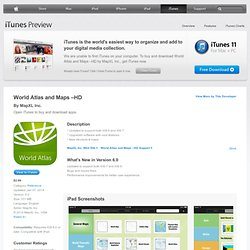 World Atlas and Maps –HD for iPad on the iTunes App Store