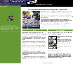 World Bank Bonds Boycott