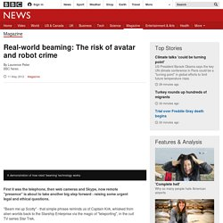 Real-world beaming: The risk of avatar and robot crime