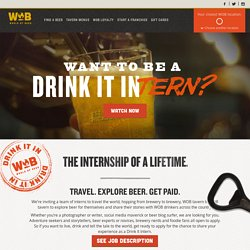 World of Beer - Drink It Intern