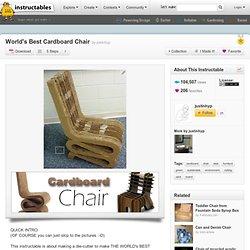 DIY Wiggle Cardboard Chair