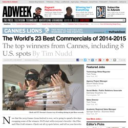 The World's 23 Best Commercials of 2014-2015