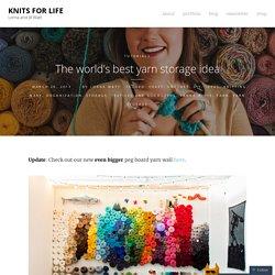 The world's best yarn storage idea