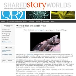 World Bibles and World Wikis