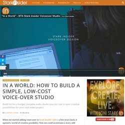How to build a simple, low-cost voice-over studio