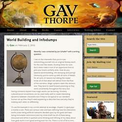 World Building and Infodumps