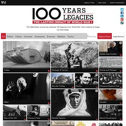 World War I Centenary: 100 Legacies of the Great War