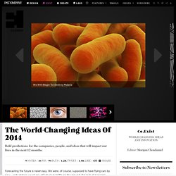 The World-Changing Ideas Of 2014