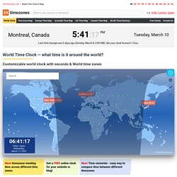 World Time Map & Clock - Check Current Local Time Around the Wor