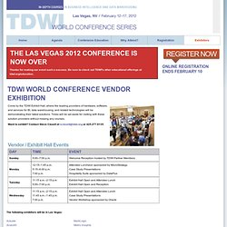 World Conference Las Vegas 2012 -- TDWI Events