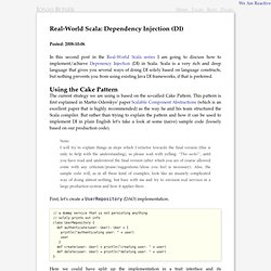 Real-World Scala: Dependency Injection (DI) ←