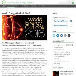 *****IEA Report: World Energy Outlook 2016