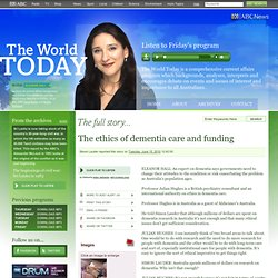 Ethics of dementia care and funding