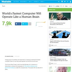 World's Fastest Computer Will Operate Like a Human Brain