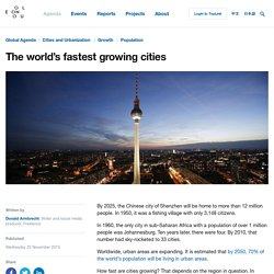 The world's fastest growing cities