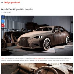 World's First Origami Car Unveiled