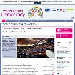 Forum mondial de la Démocratie 2013