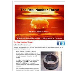 World Peace, Global Politics and the Hydrogen Bomb
