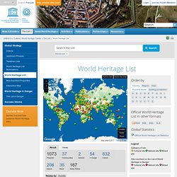 World Heritage Centre - World Heritage List