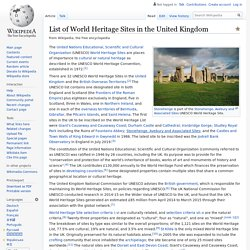 List of World Heritage Sites in the United Kingdom