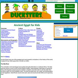 Kids History: Ancient Egypt for Kids