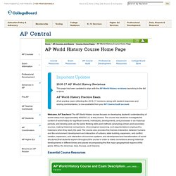 AP World History Course Home Page