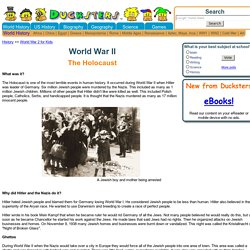World War II History: The Holocaust for Kids