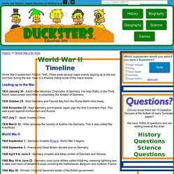 World War II History: WW2 Timeline for Kids