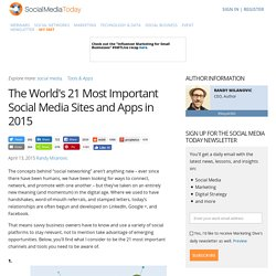 The World's 21 Most Important Social Media Sites and Apps in 2015