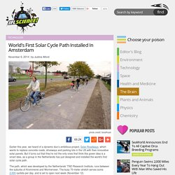 World's First Solar Cycle Path Installed In Amsterdam