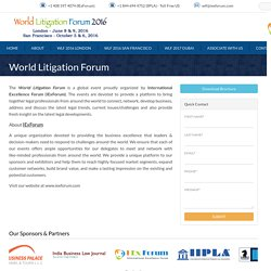 Events that focuses on global development to deal with the legal trends