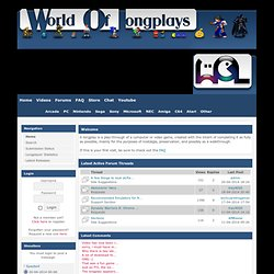 World of Longplays - News - Backup FTP server now available! - News