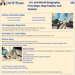 U.S. and World Maps and Puzzles - Free Maps That Teach