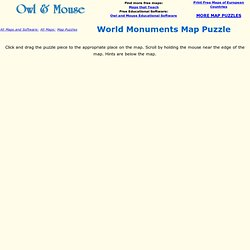 World Monuments Map Puzzle