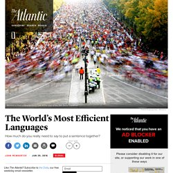 The World's Most Efficient Languages
